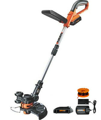 WG156 WORX 2 BATTERY 20 Volt 2-in-1 Lithium Cordless Grass Trimmer Edger