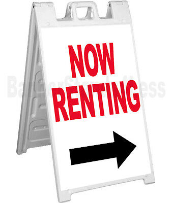 Now Renting A-frame Sign Sidewalk Signicade Sandwich Store Pavement Street Sign