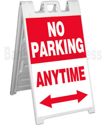 Signicade A-frame Sign Sidewalk Pavement Event Board - No Parking Anytime Rb