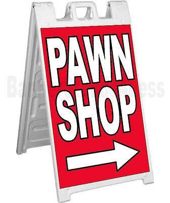 Signicade A-frame Sign Sidewalk Pavement Banner Street Sign - Pawn Shop Rb
