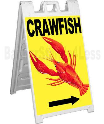 Crawfish Signicade A-frame Sign Sidewalk Sandwich Pavement Sign - Yb