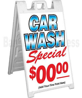 Signicade A-frame Sign Sidewalk Sandwich Pavement Sign - Car Wash Special Custom