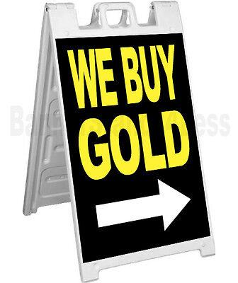 Signicade A-frame Sign Sidewalk Sandwich Pavement Sign - We Buy Gold Kb