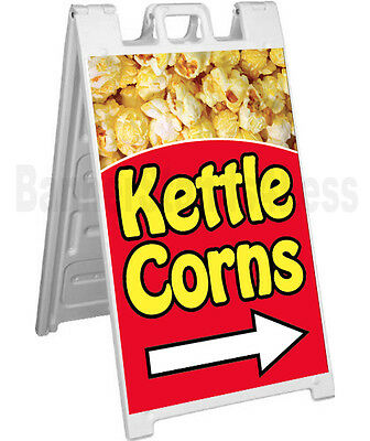 Signicade Kettle Corn A-frame Sign Sidewalk Sandwich Pavement Concession Sign
