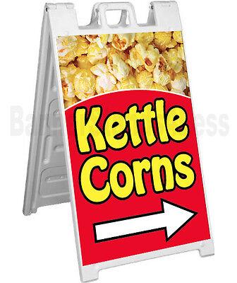 Signicade Kettle Corn A-frame Sign Sidewalk Sandwich Pavement Concession Sign