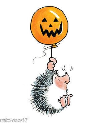 New Penny Black FRIGHTFUL FLIGHT Rubber Stamp Halloween Balloon Jack O'lantern - Halloween Balloon Crafts