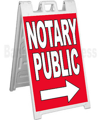 Signicade A-frame Sign Sidewalk Pavement Sign - Notary Public Rb
