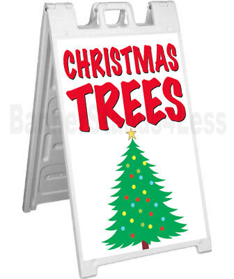 Christmas Trees Sidewalk Sign A-frame Pavement Banner Street Sign Signicade - Wb