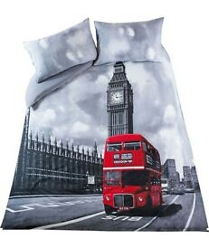 Double 'London Bus' Bed Duvet Cover
