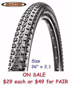 "Half Price MAXXIS Crossmark 26""x 2.1"" tyres RRP$59 East Perth Perth City Area Preview"