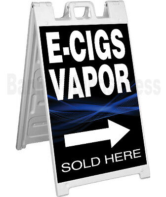 Signicade A-frame Sign Sidewalk Sandwich Pavement Sign E-cigs Vapor Sold Here Kb