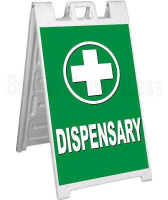 Dispensary A-frame Sign Signicade Sidewalk Pavement Banner Cbd Street Sign Gb