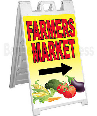 Signicade A-frame Sign Sidewalk Sandwich Pavement Street Sign - Farmers Market
