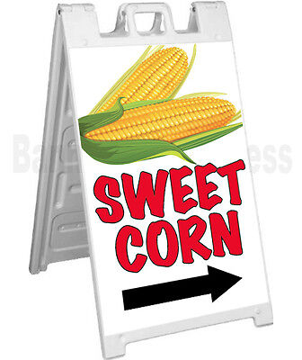 Signicade A-frame Sign Sidewalk Sandwich Pavement Concession Sign - Sweet Corn
