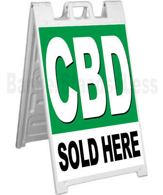 Cbd Sold Here A-frame Sign Signicade Sidewalk Pavement Banner Street Sign Gb
