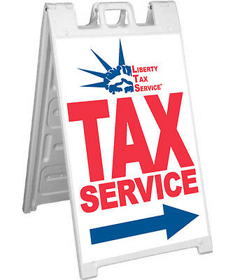 Liberty Tax Service A-frame Sign Sidewalk Signicade Pavement Banner Sign