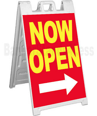 Signicade A-frame Sign Sidewalk Sandwich Store Pavement Street Sign Now Open Rb