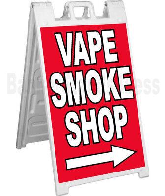 Signicade Vape Smoke Shop A-frame Sign Sidewalk Pavement Banner Street Sign - Rb
