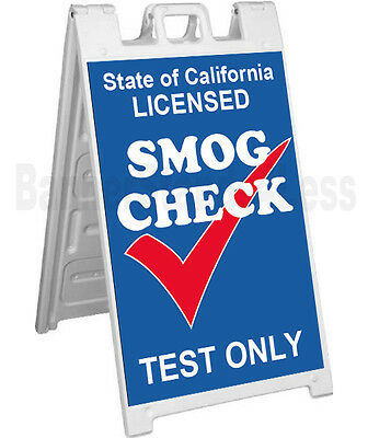 Signicade A-frame Sign Sidewalk Pavement Sign - Smog Check Test Only