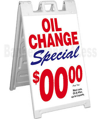 Custom Signicade A-frame Sign Sidewalk Sandwich Pavement Sign - Oil Change