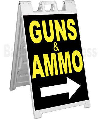 Signicade A-frame Sign Sidewalk Sandwich Pavement Street Sign Guns Ammo - Kb
