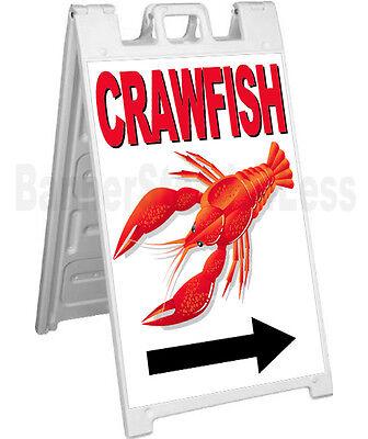 Signicade A-frame Sign Sidewalk Sandwich Pavement Crayfish Sign - Crawfish