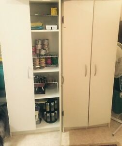 2 bookshelves/ pantry cupboards