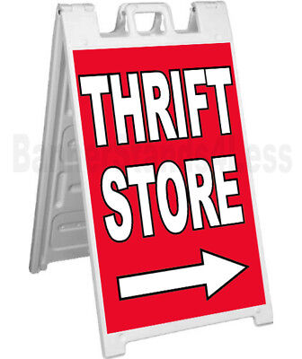 Thrift Store Sidewalk Sign A-frame Signicade Banner Pavement Sign Board Stand