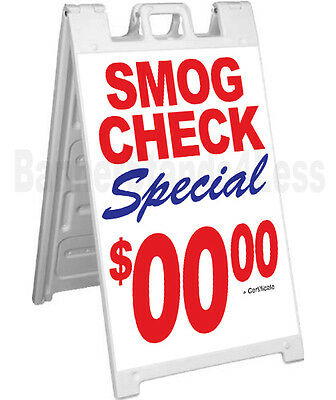 Custom Signicade A-frame Sign Sidewalk Sandwich Pavement Sign - Smog Check