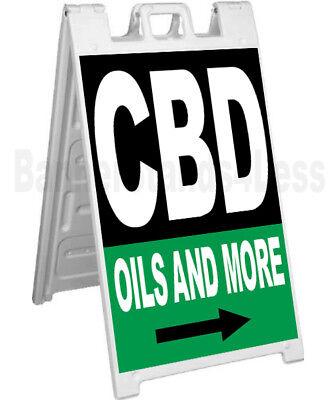 Cbd Oils And More A-frame Sign Signicade Sidewalk Pavement Banner Street Sign Kb