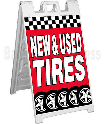 New Used Tires Sidewalk Sign A-frame Pavement Banner Street Sign Signicade - Rb