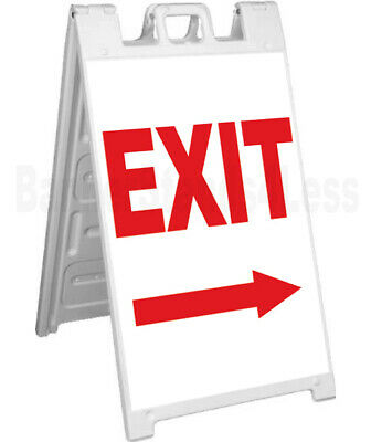 Exit - Double Sided Sign A-frame Sidewalk Pavement Signicade Sign