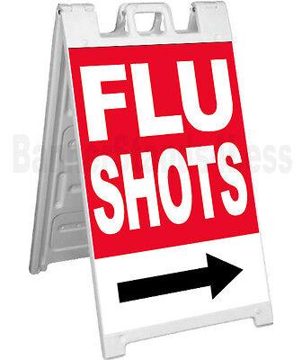 Signicade Flu Shots A-frame Sign Sidewalk Sandwich Pavement Sign