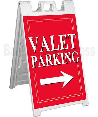 Signicade A-frame Sign Sidewalk Sandwich Pavement Sign - Valet Parking Rb