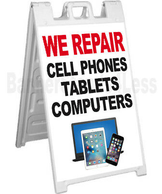 We Repair Cell Phones Tablets Computers Sidewalk Sign A-frame Signicade Wb