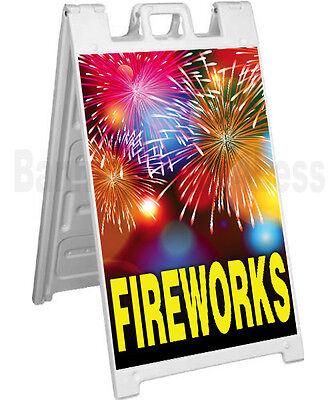 Signicade A-frame Sign Sidewalk Sandwich Pavement Sign - Fireworks
