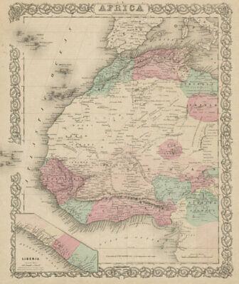 North west Africa. Liberia inset. Sahara Senegambia Guinea. COLTON 1863 map
