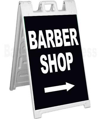 Barber Shop Signicade A-frame Sign Sidewalk Sandwich Pavement Sign - Kb