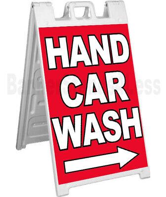 Hand Car Wash - Signicade A-frame Sign Sidewalk Sandwich Pavement Sign Rb