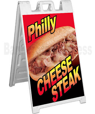 Signicade A-frame Sign Sidewalk Sandwich Pavement Sign - Philly Cheese Steak