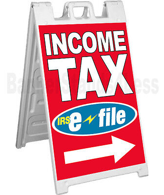 Income Tax E-file A-frame Sign Sidewalk Signicade Pavement Sign - Rb