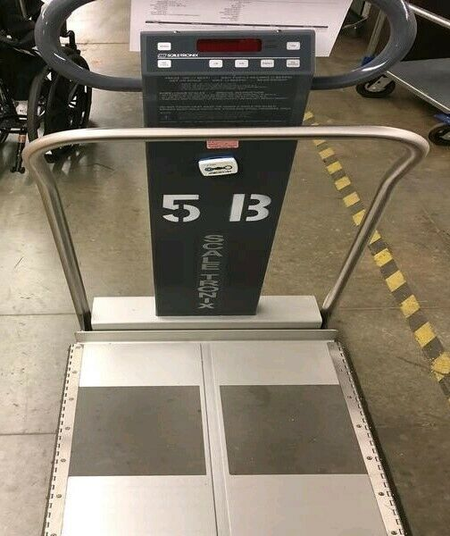 Scale-Tronix 6002 Wheelchair Scale Biomed Patient handrail scale weight weigh