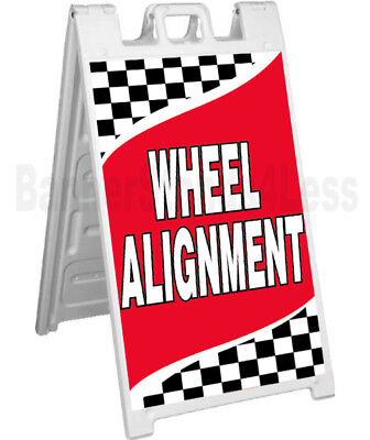 Wheel Alignment Sidewalk Sign A-frame Pavement Banner Street Sign Signicade - Rb
