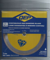 "QEP #6-7003Q  7"" Diamond Wet Saw Blade. New, Never Opened."