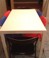 Lovely Multi-color IKEA Dining Table with 6 Chairs