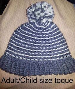 Knit toques and baby socks and mittens
