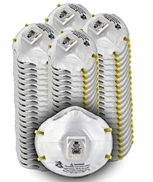3M8210V Particulat Respiratoor W/Exhalation Valve 1 CASE OF 8 BOXES EXP 05/26 Auto Paints & Supplies