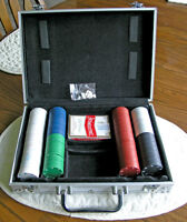 Poker Chips in Aluminum locking Carrying Case
