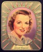 Janet Gaynor 1936 Garbaty Passion Film Star Embossed Cigarette Card #11