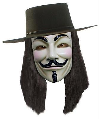 V For Vendetta Perücke Kostüm Guy Fawkes Lizensiert RU51385 ()